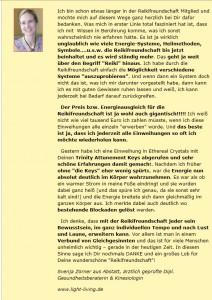 Reikifreundschaft Testimonial - gute Erfahrungen mit Reiki, Energiearbeit & Selbst-Coaching