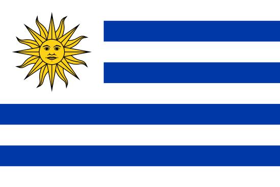 Uruguay Flagge mit Sonne